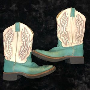 Justin Women's Cowboy/Cowgirl Boots Teal size 8